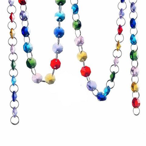 colored chandelier crystal strands