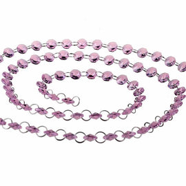 pink chandelier replacement crystals strands