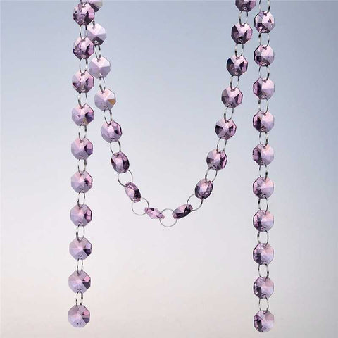 pink chandelier replacement strands chains garland