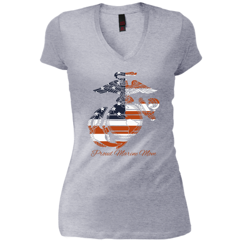PROUD MARINE MOM (Pride of a Nation)  Ladies V-Necks, Tank Tops and  Unisex Crew