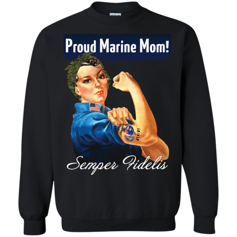 (PRE-SALE) ROSIE THE RIVETER (Proud Marine Mom) Hoodies and Sweatshirt!