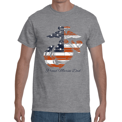 PROUD MARINE DAD (PRIDE OF A NATION) Short Sleeve T-Shirt