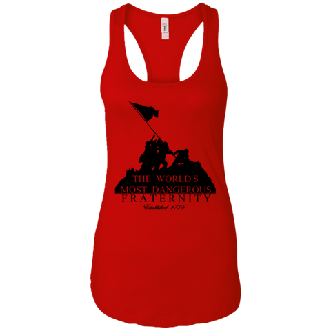 Dangerous Fraternity  Next Level Ladies Ideal Racerback Tank Top