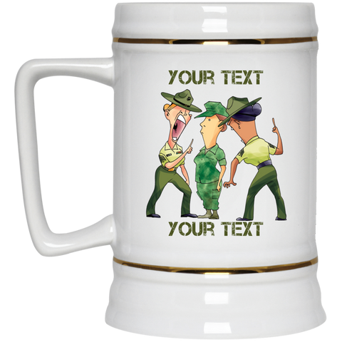 (Style 2) Female Recruit and DIs FULLY PERSONALIZED 22 oz Beer Stein