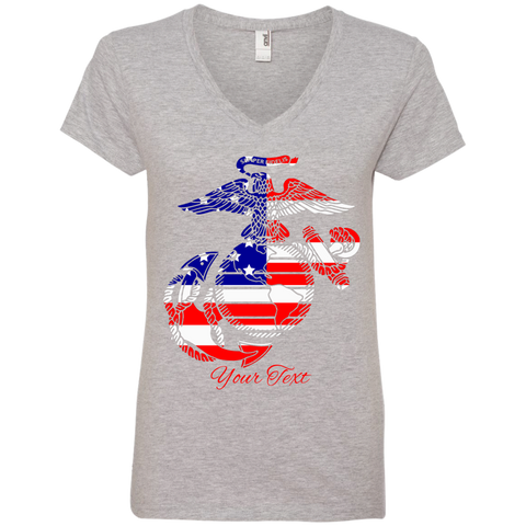 PRIDE OF A NATION Fully Personalized Ladies' V-Neck T-Shirt