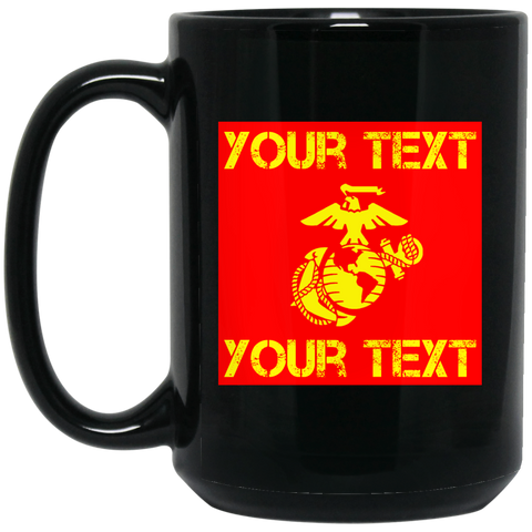 FUNDRAISER:  100% Personalized Large 15 oz. Black Mug