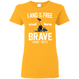 PERSONALIZED --LAND OF THE FREE-- Ladies T-Shirt