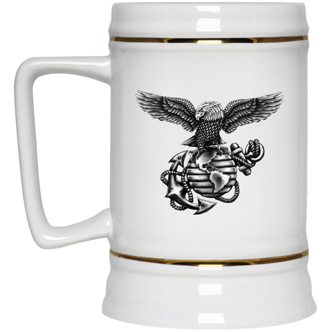 22 Oz. Ceramic Beer Stein  (Blackout Collection)