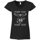 FULLY PERSONALIZED Ladies' Fitted Softstyle V-Neck T-Shirt