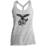 BLACK OUT COLLECTION District Made Ladies Cosmic Twist Back Tank