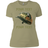 "Personalized Full Metal Jacket ""Born To Kill"" Helmet Ladies' Boyfriend T-Shirt"
