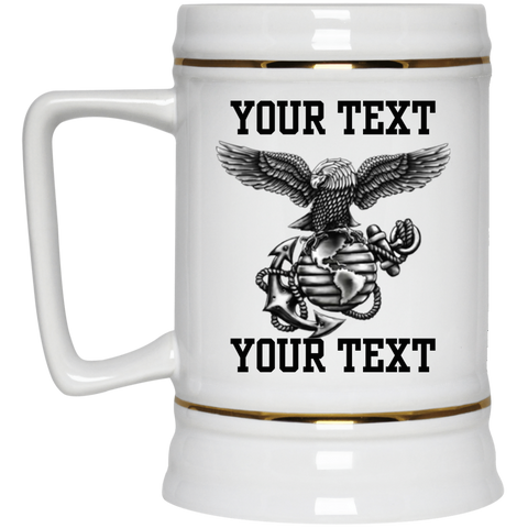 FUNDRAISER Personalized 22 oz Large Ceramic Beer Stein