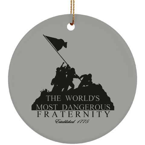 Ceramic Circle Christmas Ornament (Dangerous Fraternity)
