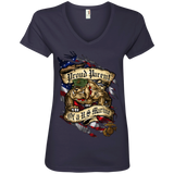 Proud Parent of a U.S. Marine Bulldog Ladies' V-Neck T-Shirt