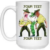 (Style 1) Skinny Recruit and Drill Instructors Fully Personalized LARGE White Mug