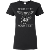 FULLY PERSONALIZED Gildan Ladies' 5.3 oz. T-Shirt