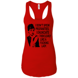 Spew Profanties (Super Soft)   Ladies Ideal Racerback Tank