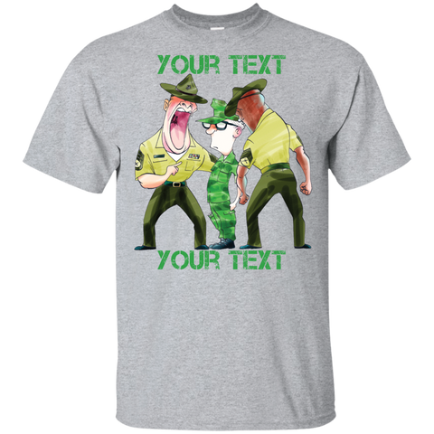 YOUTH- DI vs Recruit (Funny/Cute) PERSONALIZED T-Shirt (Style 1)