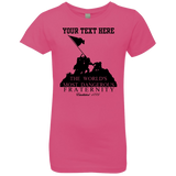 "GIRLS- Fully Personalized ""Dangerous Fraternity"" Princess T-Shirt"