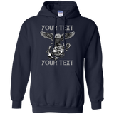 Fully Personalized  *Black Out Edition* Pullover Adult  Hoodie