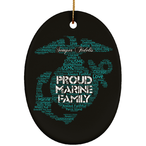 Marine Corps Christmas Ornament (Proud Marine Family)
