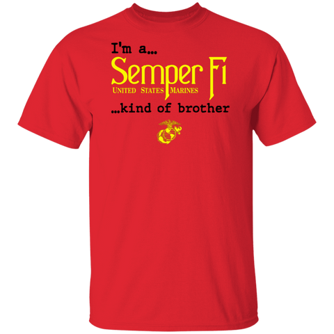 Semper Fi Kind of Brother  Short Sleeve Shirt