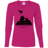 Dangerous Fraternity Gildan Ladies' Cotton Long Sleeve T-Shirt