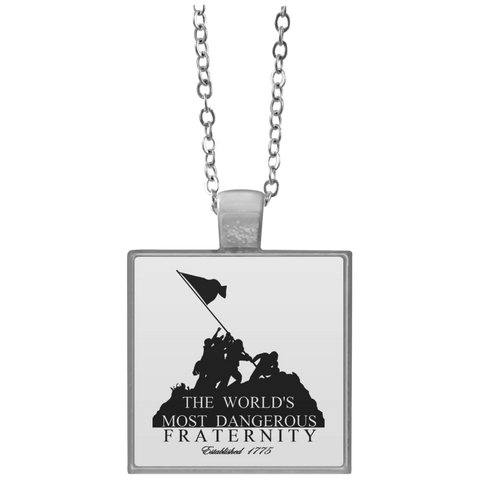 Silver Plated 1x1 Square Necklace (Dangerous Fraternity)
