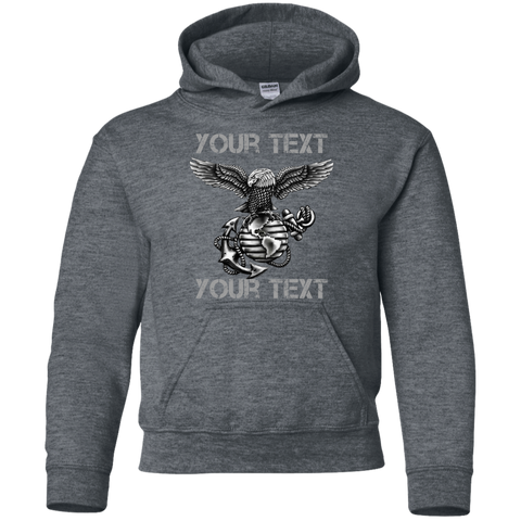 Fully Personalized  Youth Pullover Hoodie  (Blackout Edition)