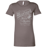 Marines Born In Battle  Bella + Canvas Ladies' Favorite T-Shirt (Super Soft)