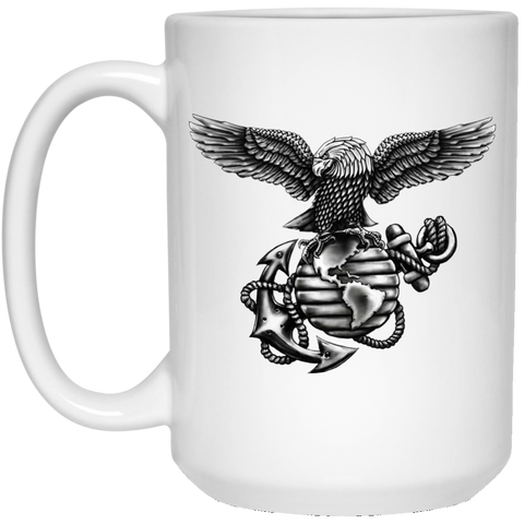 15 oz. White Coffee Mug  (Blackout Collection)