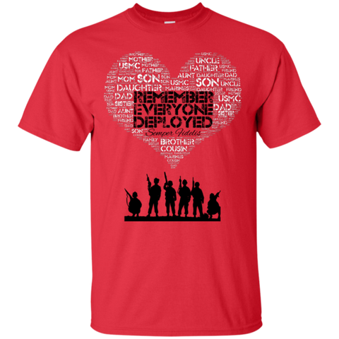 RED Friday -Remember Everyone Deployed  (Relationship Shirt)  Limited Quantity Available