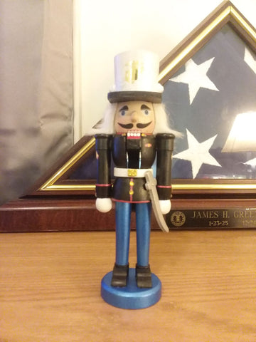Beautiful Hand Painted Marine Nutcracker  (YOU CHOOSE THE RANK)