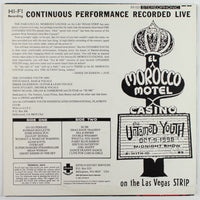Untamed Youth ‎– At The Fabulous El Morocco Lounge, Back Album Cover