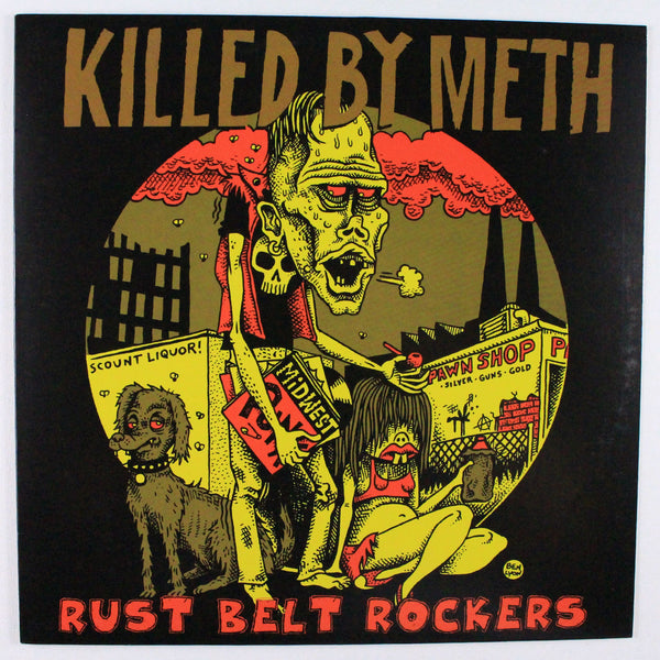 Killed By Meth Rust Belt Rockers – Various, Album Cover Front Side