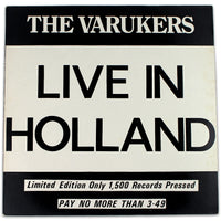 The Varukers ‎– Live In Holland - Rabbit Hole Records