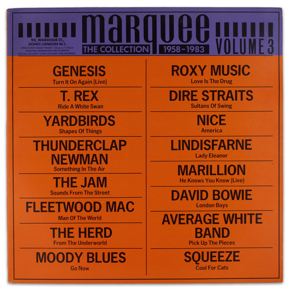 Various ‎– The Marquee Collection Vol. 3 - Rabbit Hole Records