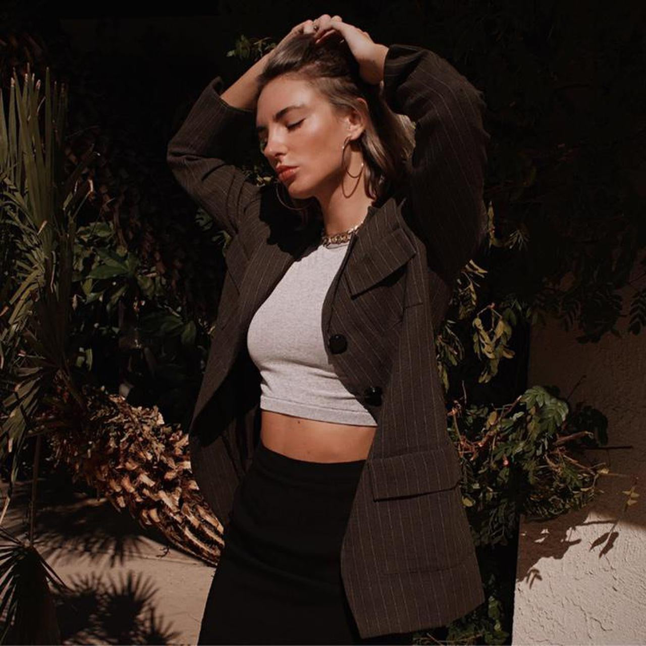 Vintage Oversized Tweed Blazer
