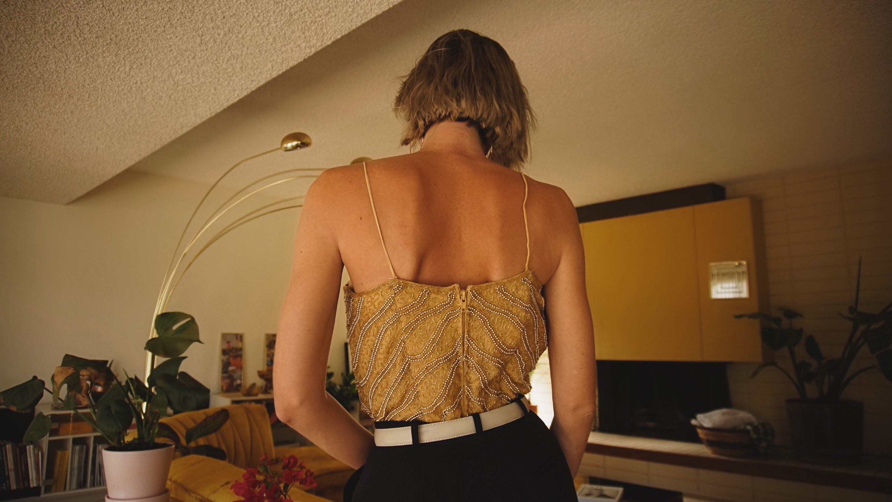 Vintage Silk Beaded Top