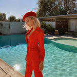 Vintage 70's Suit Set in Red - Bear Fox Babe