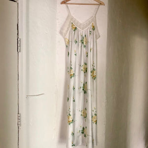 Vintage Christian Dior Floral Full Length Slip Dress - Bear Fox Babe