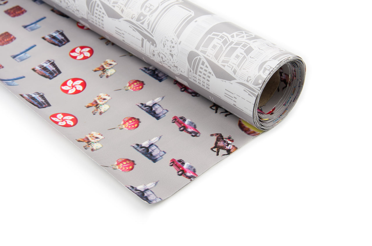 Hong Kong Wrapping Paper (2 Double Sided Rolls)