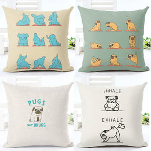 Dog Yogi Pillow Covers