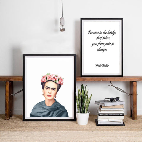 Frida Kahlo Canvas Art Wall Poster