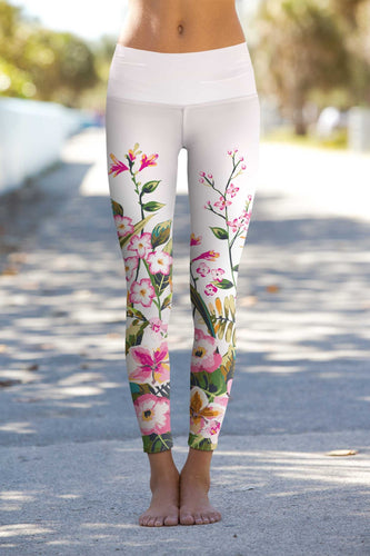 Mountain Garden Lucy Floral Performance Leggings Spocket App
