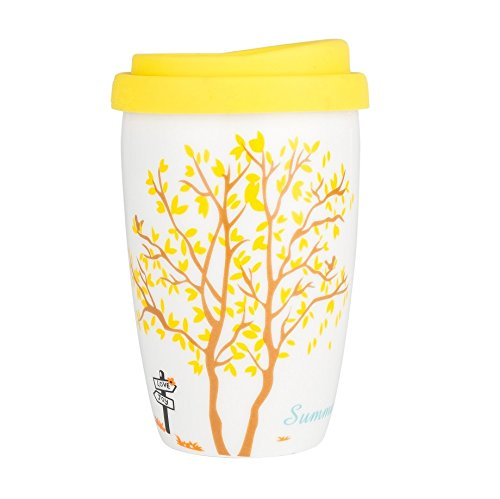 Magician Eco Cup - Double Wall Insulated Ceramic Travel Mug, Original Four Seasons Summer 8oz Coffee Cup with an Artistic Design, Great Gift for Someone You Care!