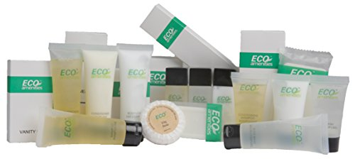 ECO Amenities Cosmetic and Grooming Travel Set, Include 12 Products