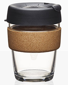 KeepCup Brew Glass Reusable Coffee Cup, 12 oz, Espresso