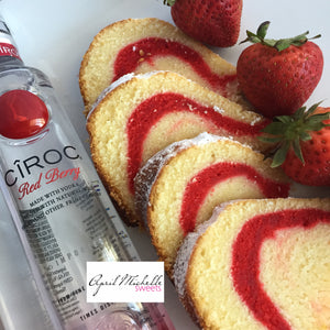 Red Berry Ciroc Cream Cheese Pound Cake