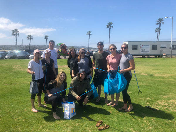 Beach Cleanup with STRW Co in Mission Beach, CA